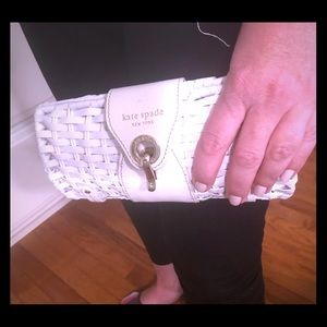 Authentic Kate Spade white clutch